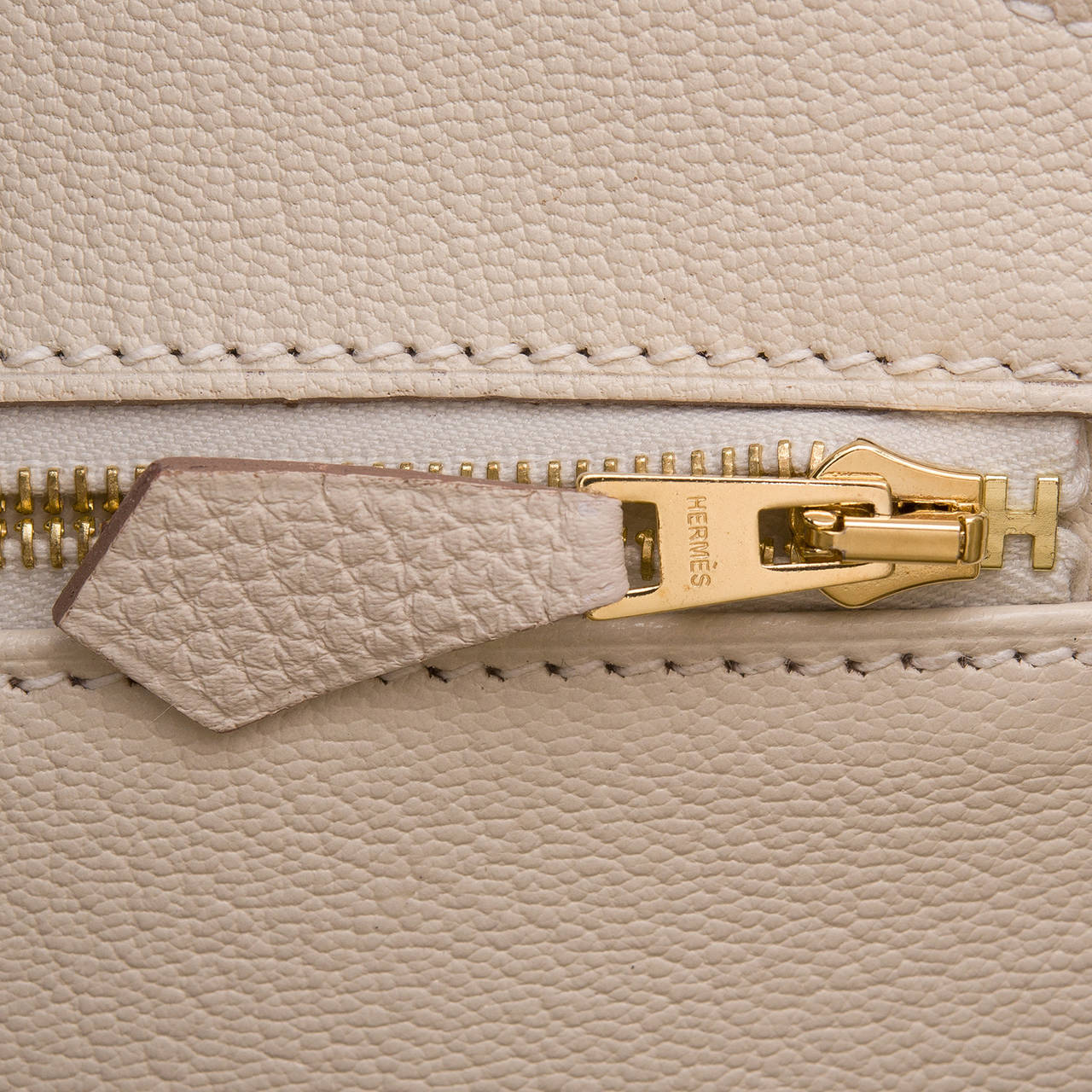 Hermes Craie Togo Birkin 35cm Gold Hardware For Sale 3