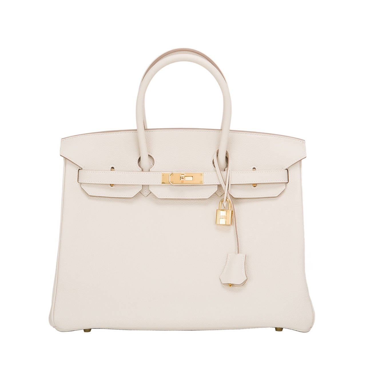 white hermes bag - Hermes Craie Togo Birkin 35cm Gold Hardware For Sale at 1stdibs