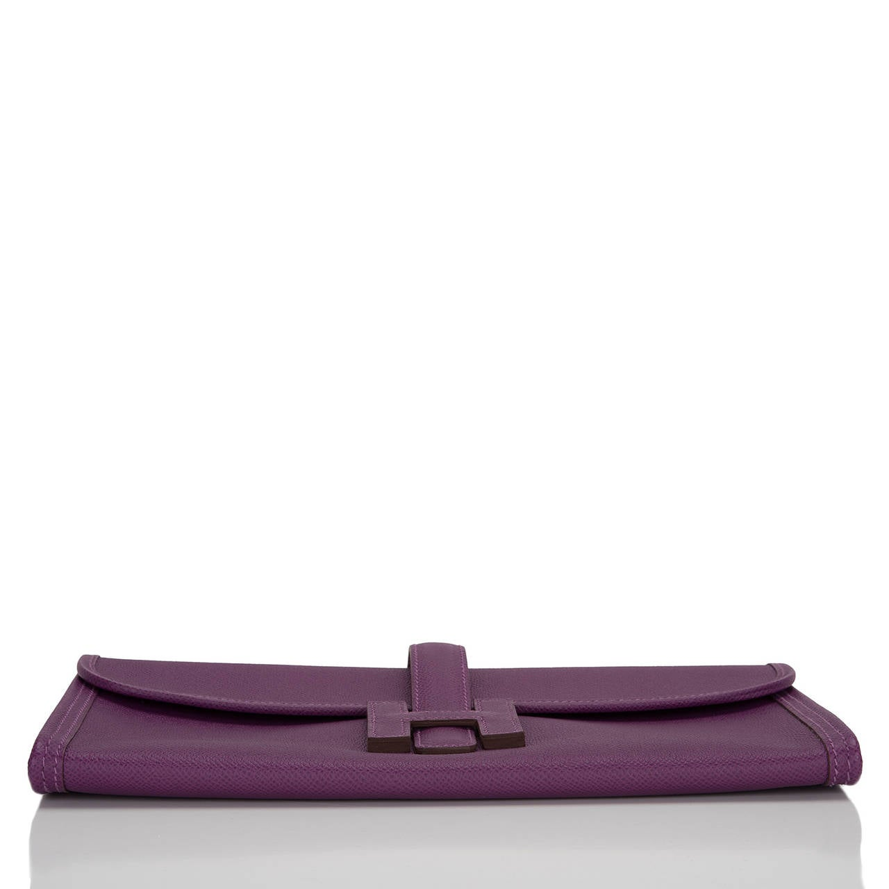 Hermes Anemone Epsom Jige Elan Clutch 29cm In New never worn Condition For Sale In New York, NY