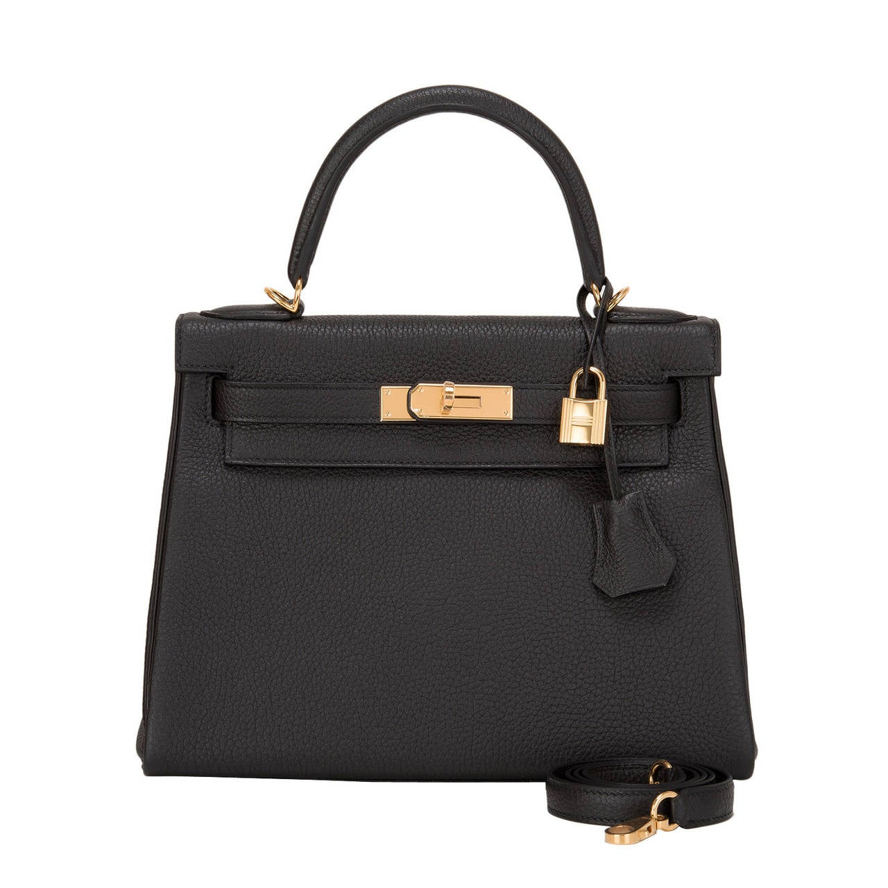 replica hermes birkin bag - Hermes Black Togo Kelly 28cm Gold Hardware at 1stdibs