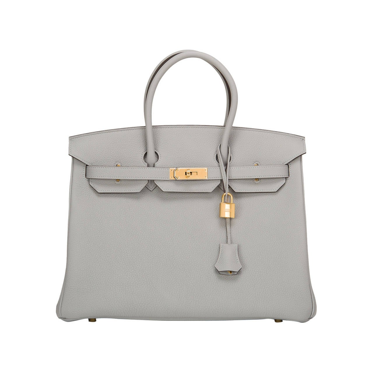 Hermes Blue Glacier Togo Birkin 35cm Gold Hardware For Sale