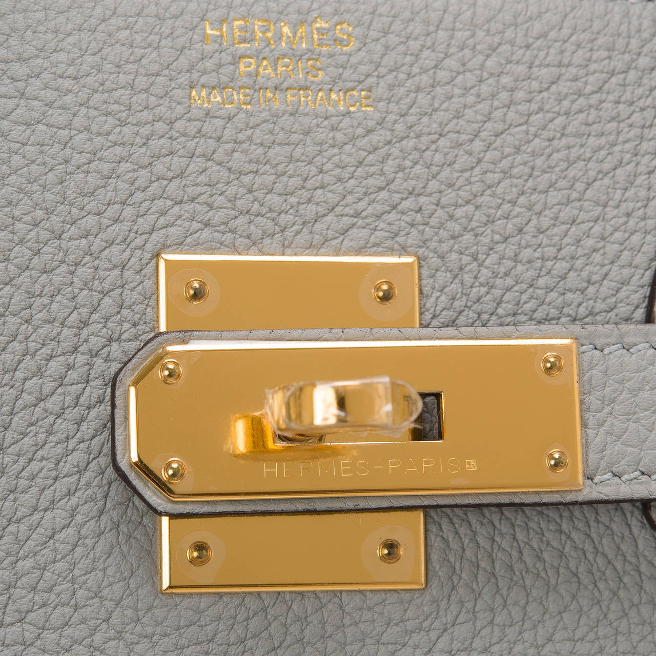 Hermes Blue Glacier Togo Birkin 35cm Gold Hardware For Sale 2