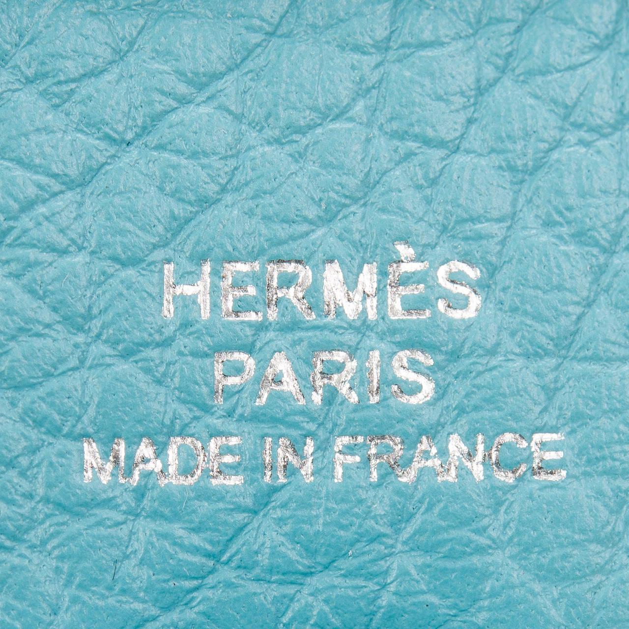 hermes Evelyne medium Saint Cyr blue