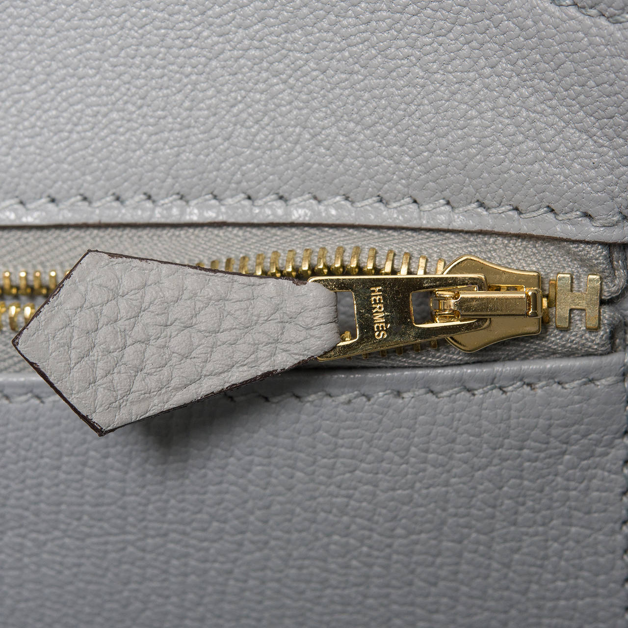 Hermes Blue Glacier Togo Birkin 35cm Gold Hardware For Sale 4