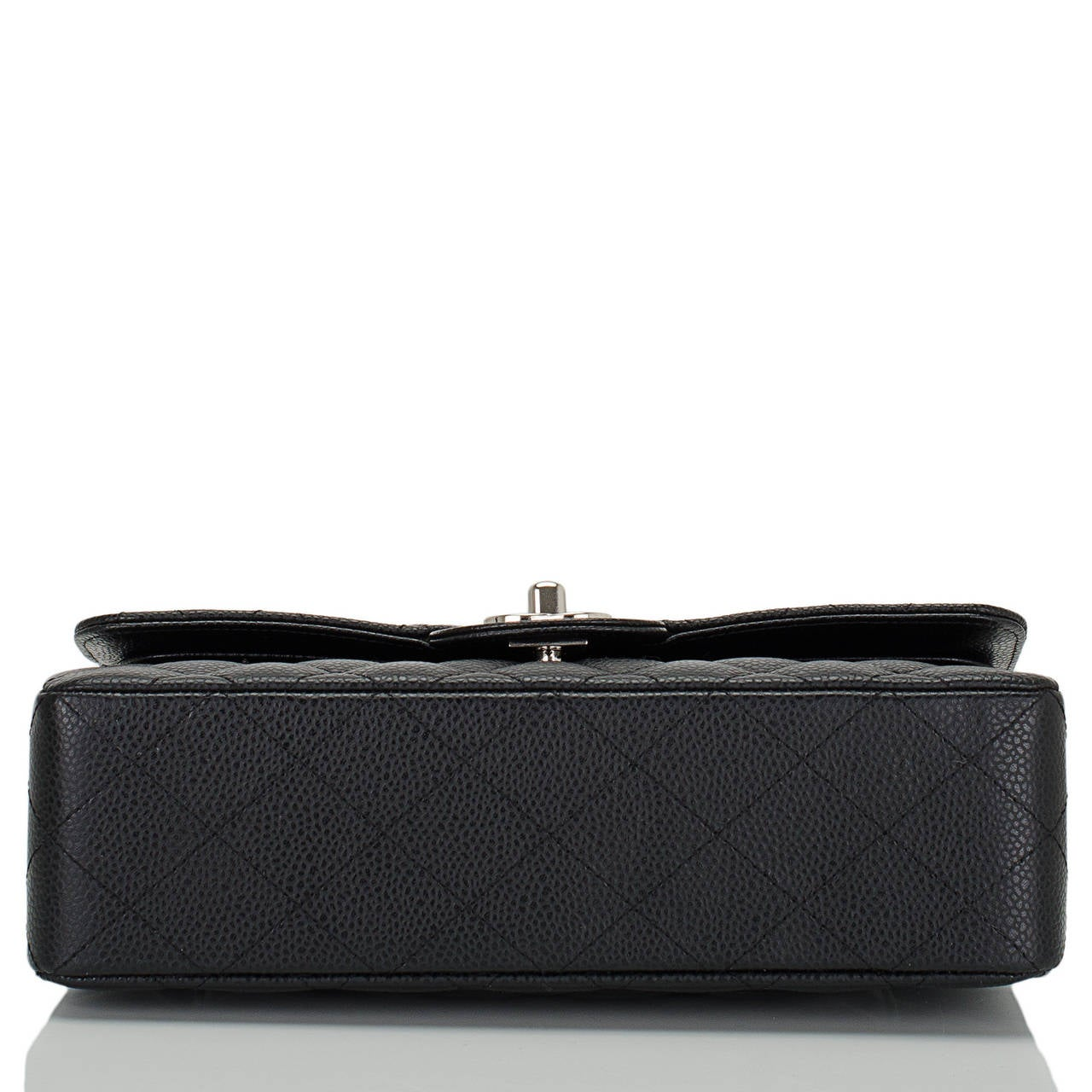 Women's Chanel Black Quilted Caviar Small Classic Double Flap Bag For Sale