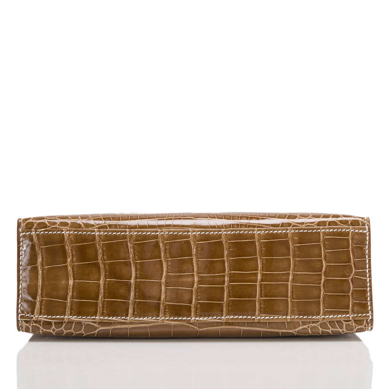 Hermes Glycine Kelly Pochette Cut Clutch Bag Palladium