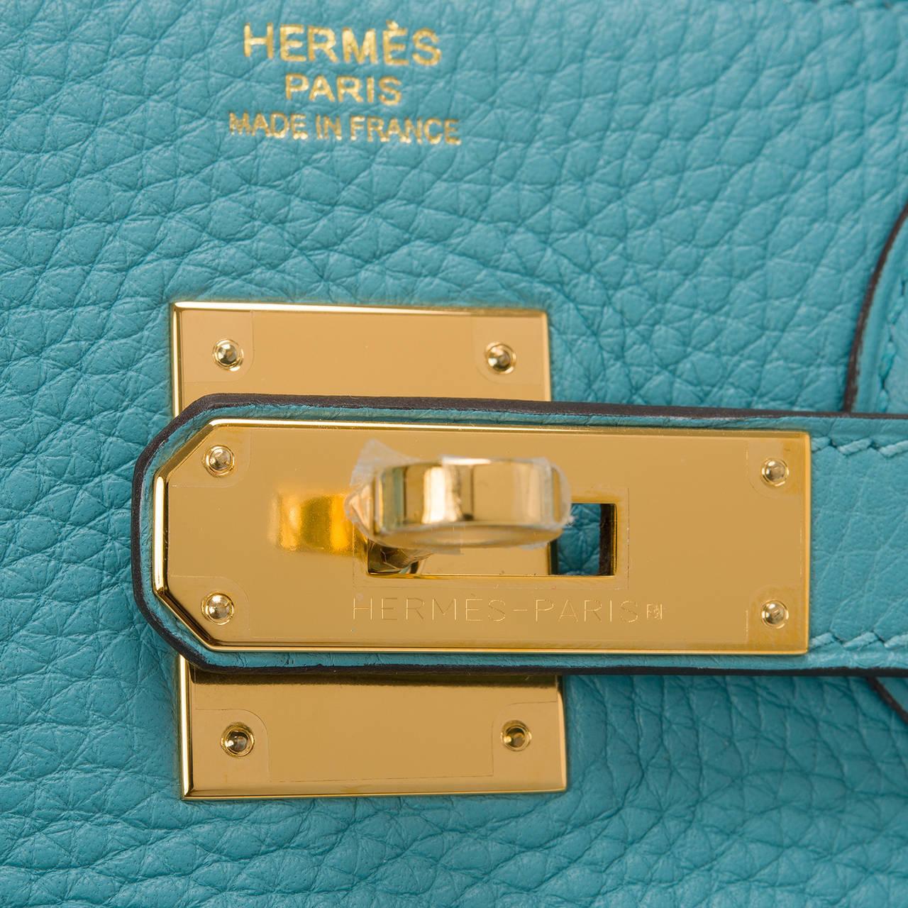 hermes bag kelly - Hermes Blue Saint Cyr Togo Birkin 30cm Gold Hardware at 1stdibs