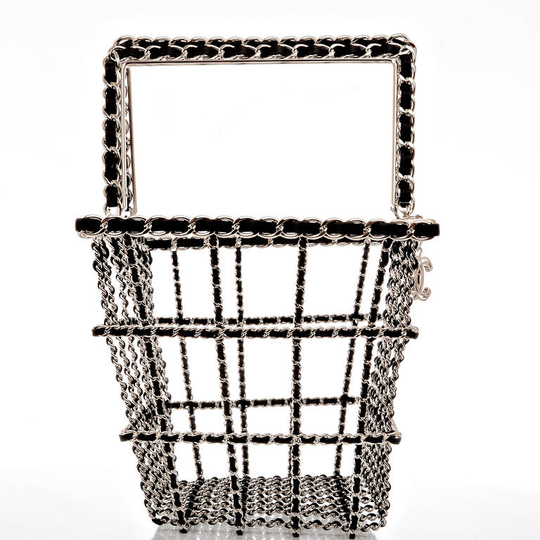 Gray Chanel Limited Edition Shopping Cart Basket For Sale