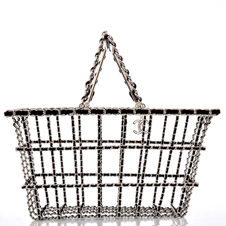 Chanel Limited Edition Shopping Cart Basket In New Never_worn Condition For Sale In New York, NY