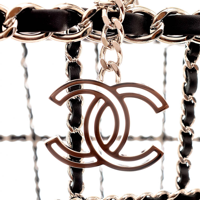 Chanel Limited Edition Shopping Cart Basket For Sale 1