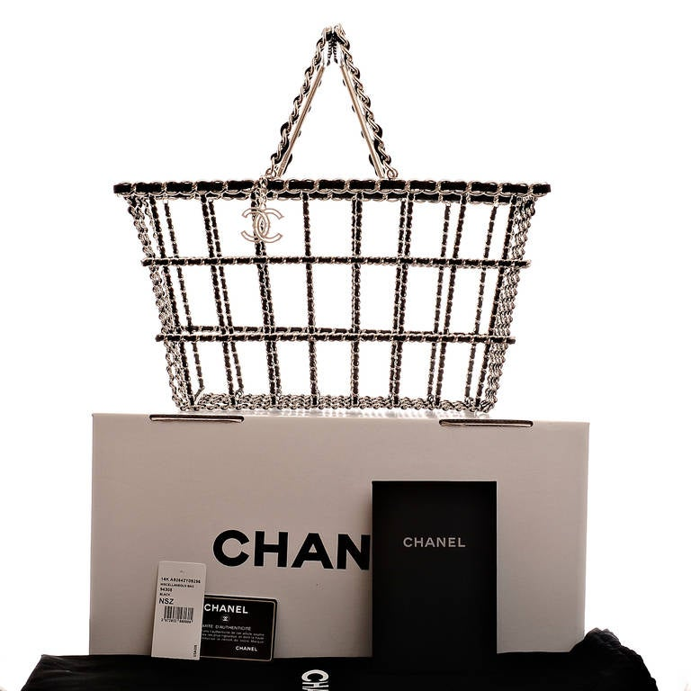 Chanel Limited Edition Shopping Cart Basket For Sale 3