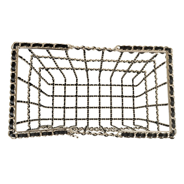 Chanel Limited Edition Shopping Cart Basket For Sale 2