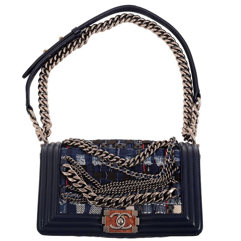 27db1e54359e Chanel Tweed Bag Navy Blue | Stanford Center for Opportunity Policy ...