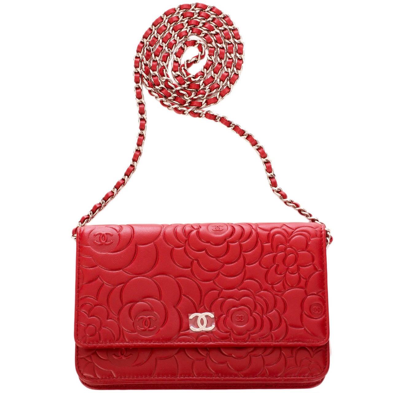 Chanel <u>lambskin</u> Red Lambskin