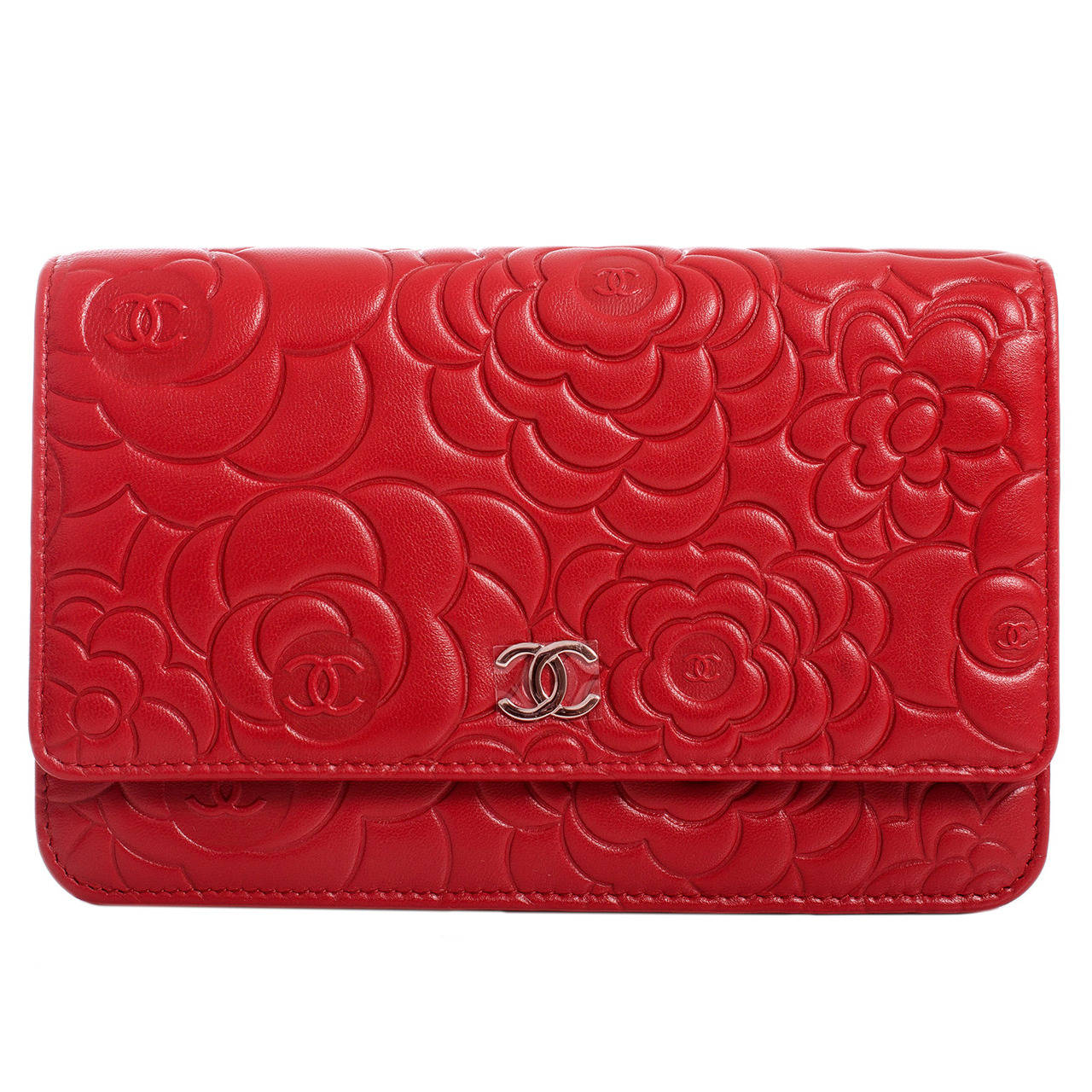 8d559ac803dd Chanel Camellia Wallet On Chain Red | Stanford Center for ...
