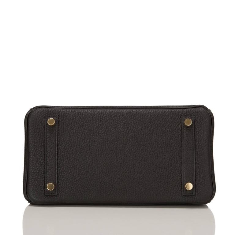 Women's Hermes Black Togo Birkin 25cm Gold Hardware For Sale