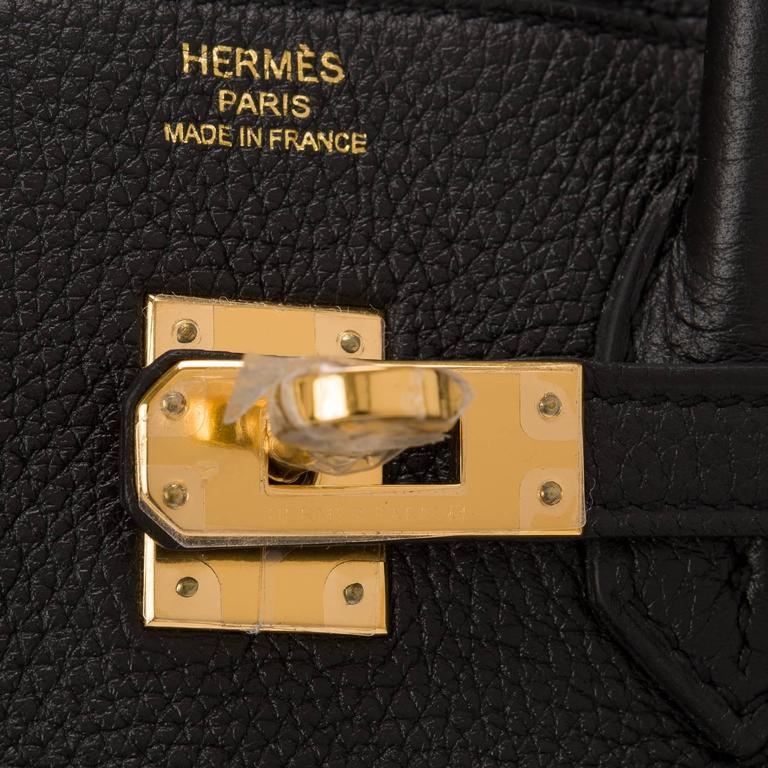 Hermes Black Togo Birkin 25cm Gold Hardware For Sale 1