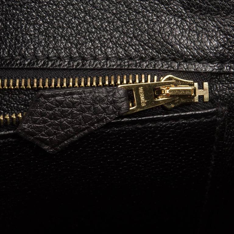 Hermes Black Togo Birkin 25cm Gold Hardware For Sale 3