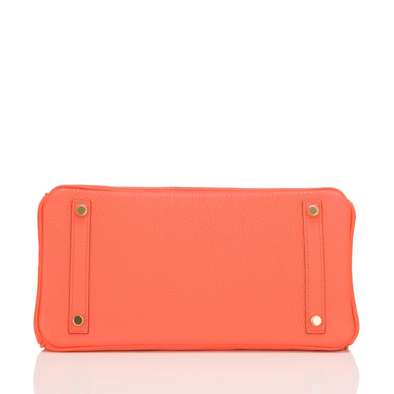 faux hermes - Hermes Orange Poppy Clemence Birkin 30cm Gold Hardware For Sale at ...