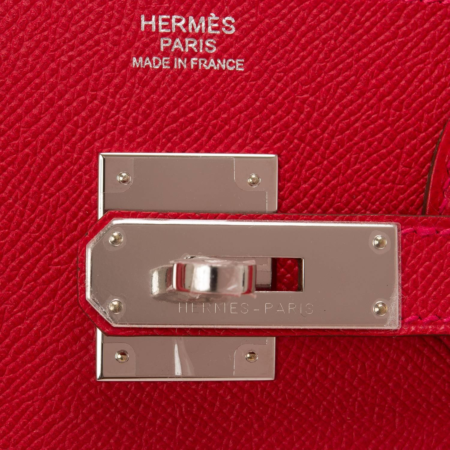 Hermes Rouge Casaque Epsom Birkin 30cm Palladium Hardware at 1stdibs