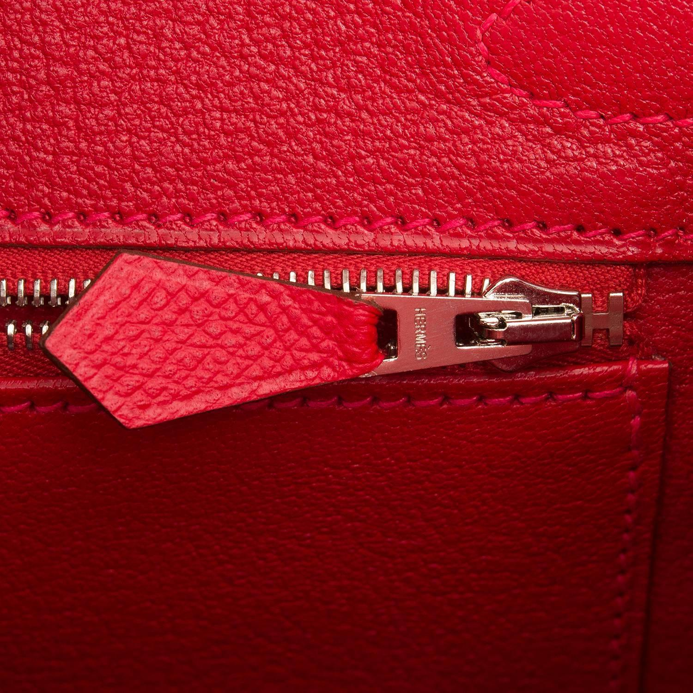Hermes Rouge Casaque Epsom Birkin 30cm Palladium Hardware at 1stdibs