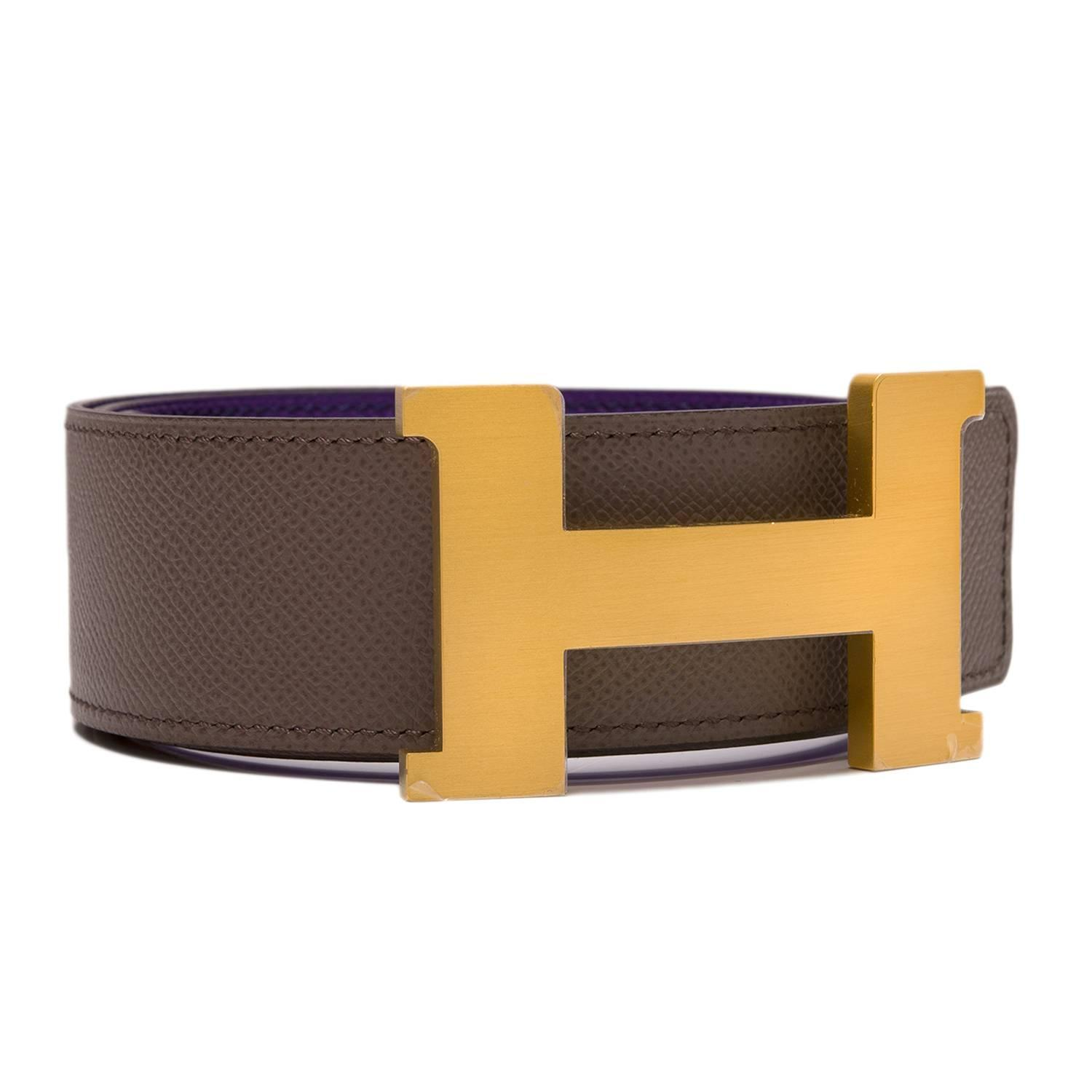 bags that look like hermes birkin - Hermes 42mm Reversible Crocus/Etain Epsom Constance H Belt Brushed ...