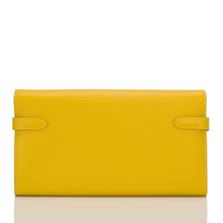 hermes constance bag price - Hermes Soufre Chevre Kelly Longue Wallet For Sale at 1stdibs