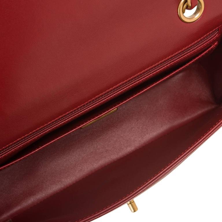 Chanel Runway Red Multicolor Lambskin Medium Mosaic Flap Bag For Sale 1