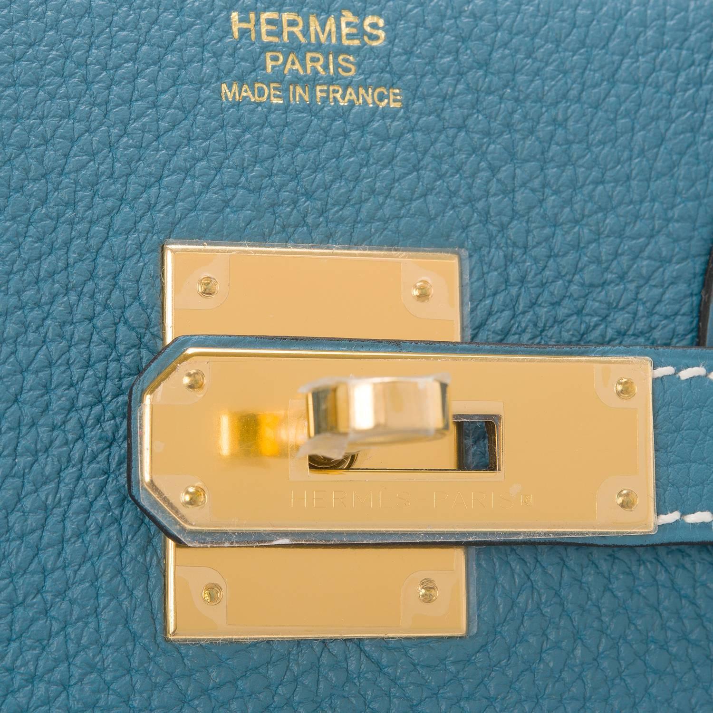 hermes blue jean togo birkin 30cm gold hardware