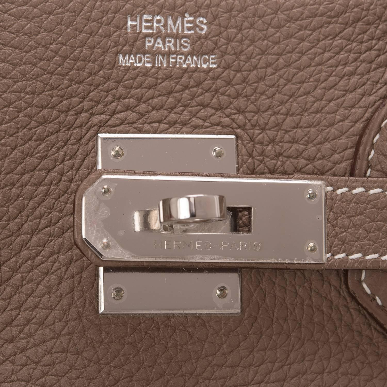 Hermes HSS Tri-Color Craie, Gris Tourterelle, Blue Atoll Togo Birkin 35cm