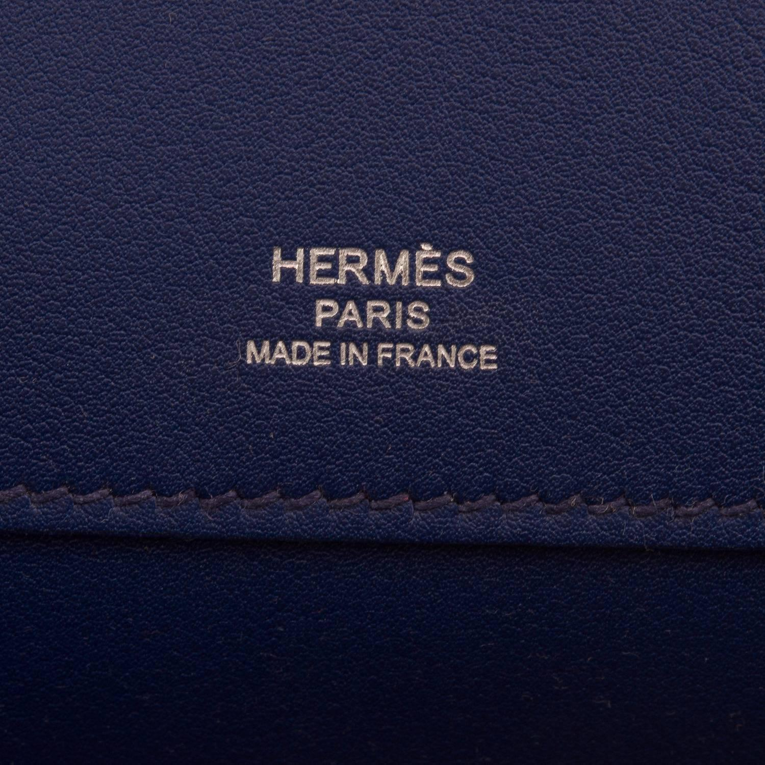 replica hermes - Hermes Blue Sapphire Leather Kelly Cut For Sale at 1stdibs