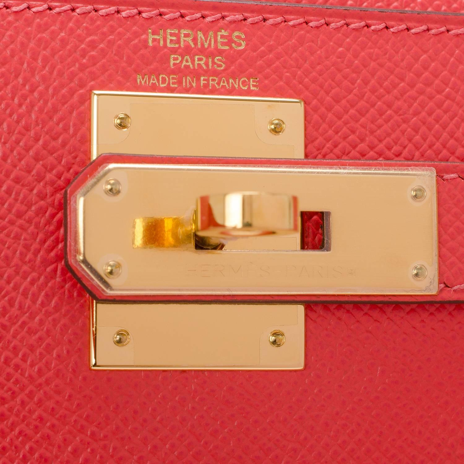 hermes kelly bag 28cm blue paon epsom sellier gold hardware