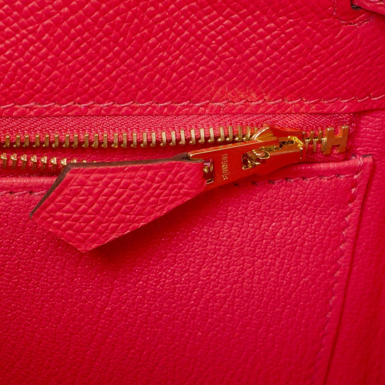hermes birkin 30 bag exquisite rose jaipur epsom gold hardware