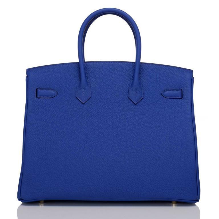 Purple Hermes Blue Electric Togo Birkin 35cm Gold Hardware For Sale