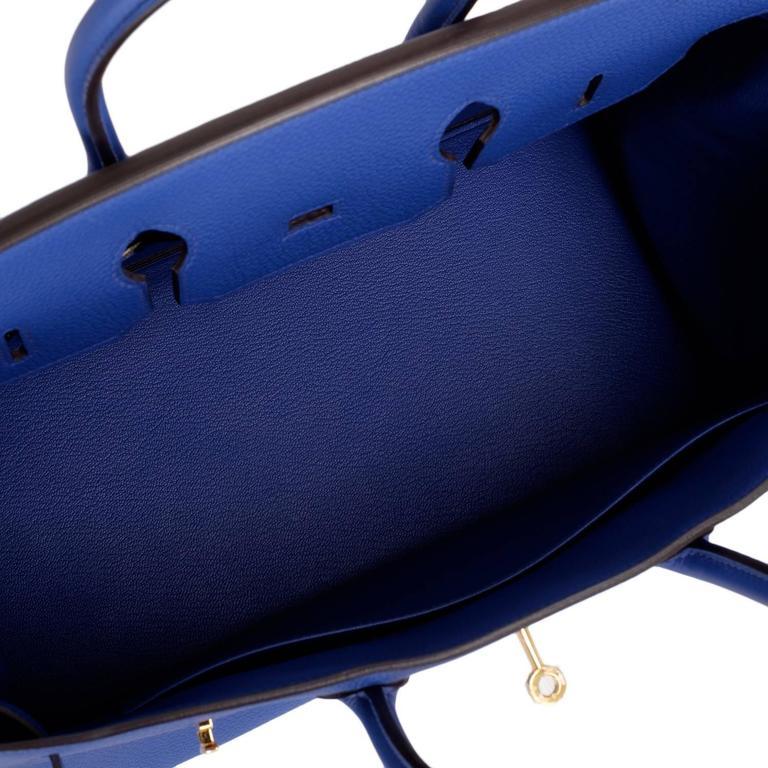 Hermes Blue Electric Togo Birkin 35cm Gold Hardware For Sale 1