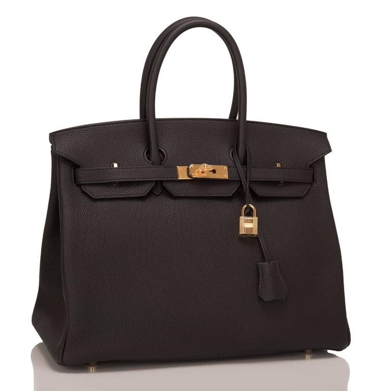 Hermes Black Togo Birkin 35cm Gold Hardware In New Never_worn Condition For Sale In New York, NY