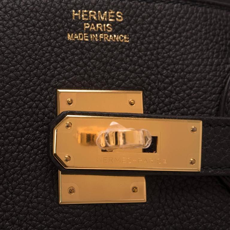 Hermes Black Togo Birkin 35cm Gold Hardware For Sale 2