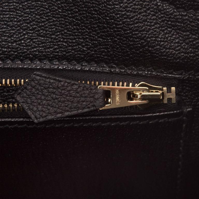 Hermes Black Togo Birkin 35cm Gold Hardware For Sale 4