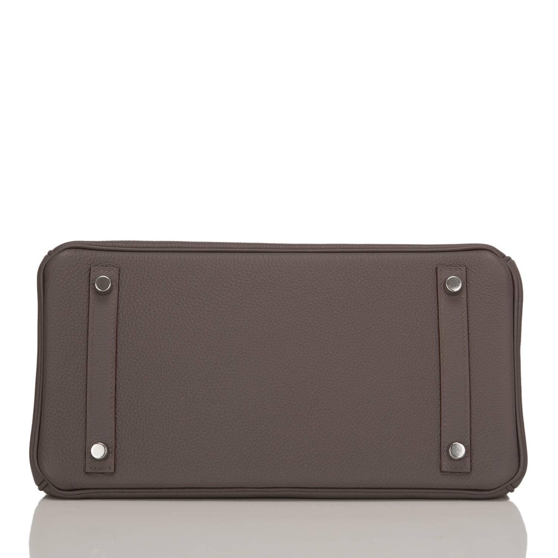 Hermes Etain Togo Birkin 30cm Palladium Hardware For Sale at 1stdibs