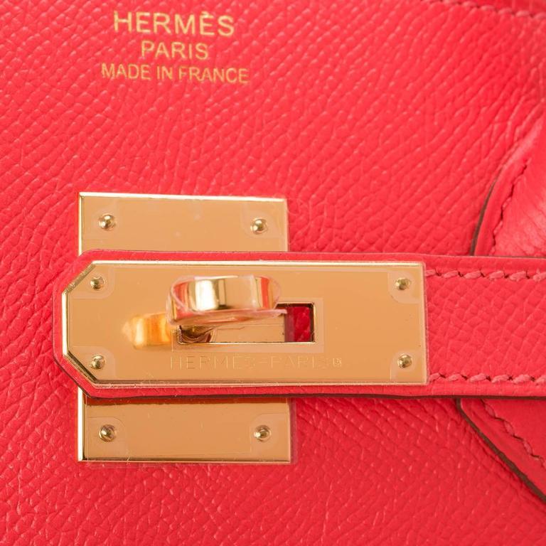 Women's Hermes Rose Jaipur Epsom Birkin 35cm Gold Hardware For Sale
