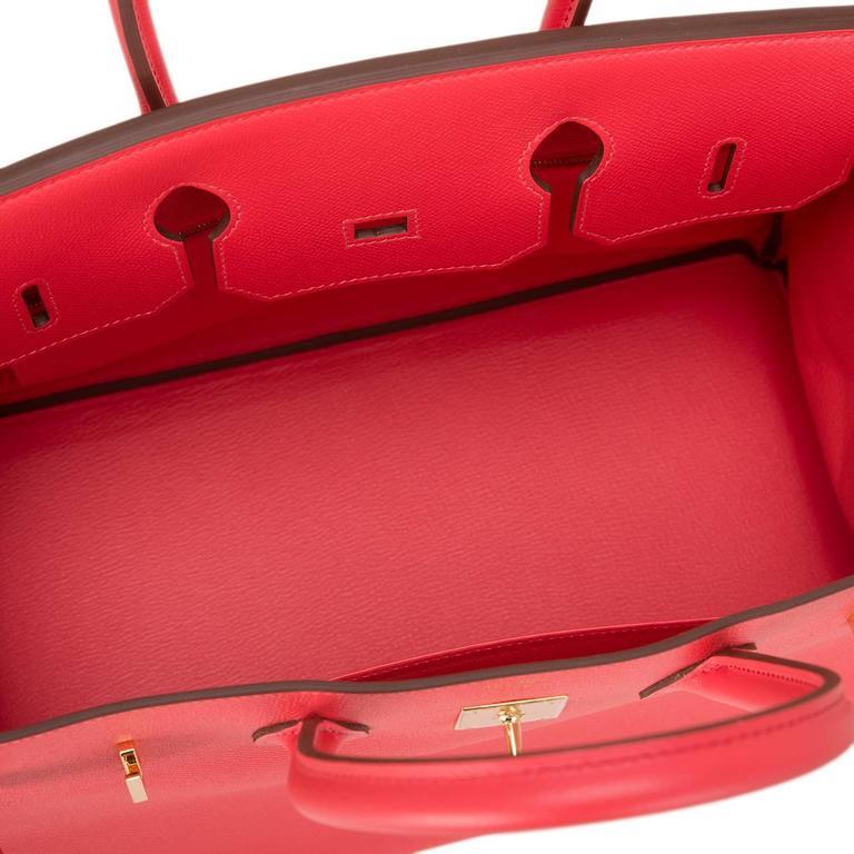Hermes Rose Jaipur Epsom Birkin 35cm Gold Hardware For Sale 1
