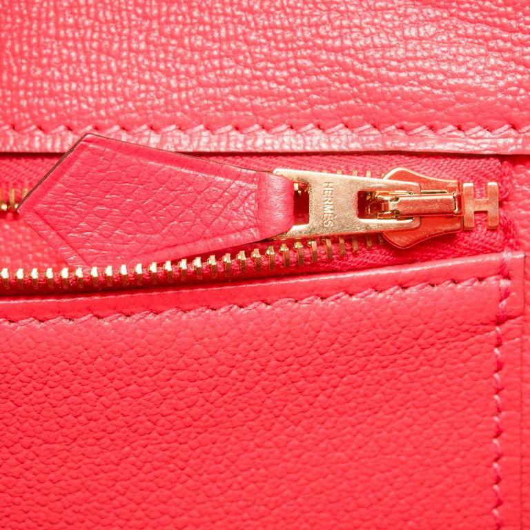 Hermes Rose Jaipur Epsom Birkin 35cm Gold Hardware For Sale 2