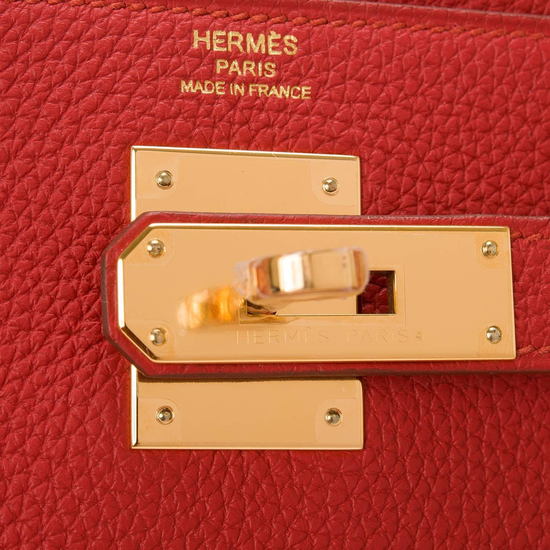 hermes replica bag - Hermes Vermillion Togo Kelly 28cm Gold Hardware at 1stdibs