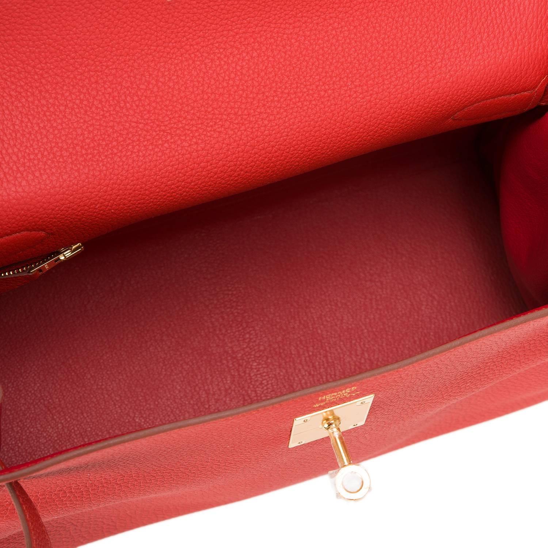 kelly green leather handbag - Hermes Handbag Birkin 25 Togo Raisin Gold Hardware 2015