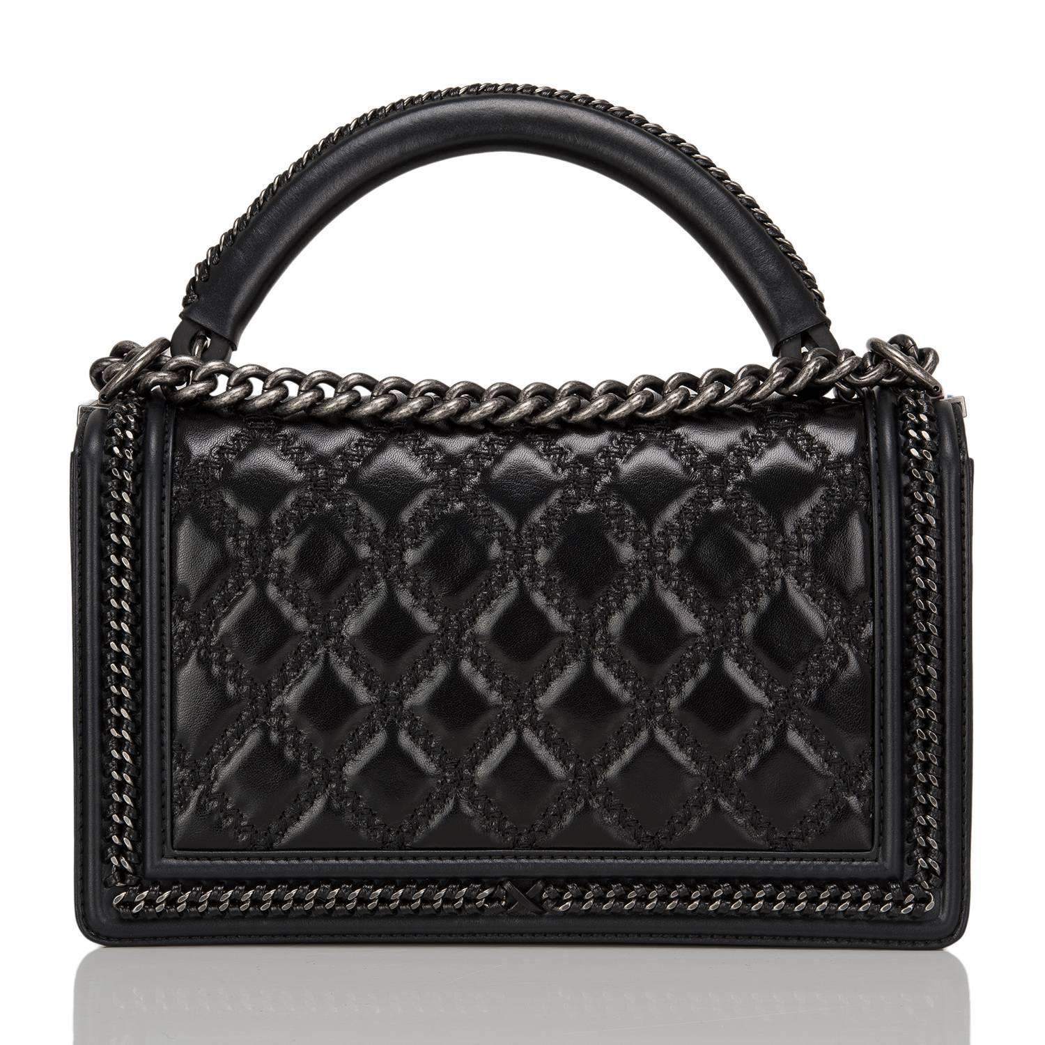 55e80647cdc Chanel Boy Bag With Handle In Calfksin A94811