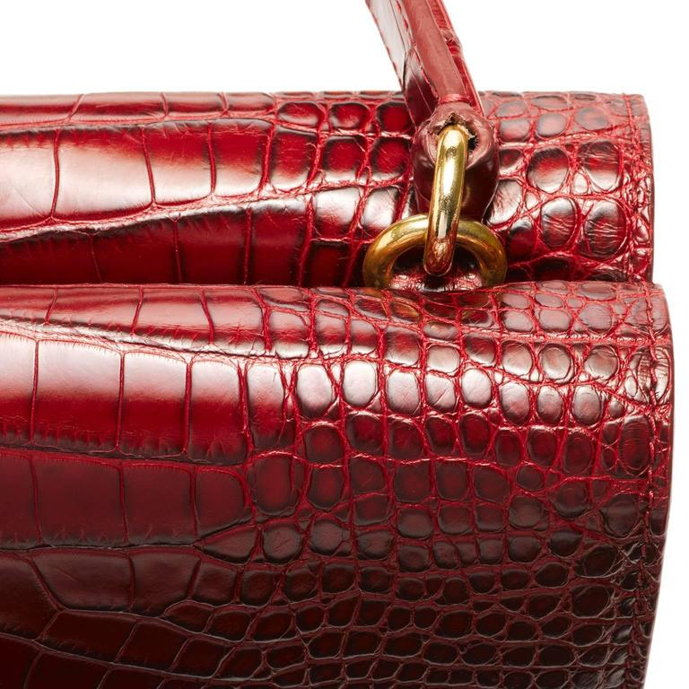 Women's or Men's Lorry Newhouse Crimson Alligator Double Bag   For Sale