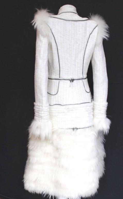 Alexander McQueen Fall 2011 Paris Collection White Mink Fur Coat 44 uk 12  4