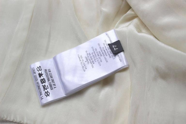Alexander McQueen Fall 2011 Paris Collection White Mink Fur Coat 44 uk 12  9