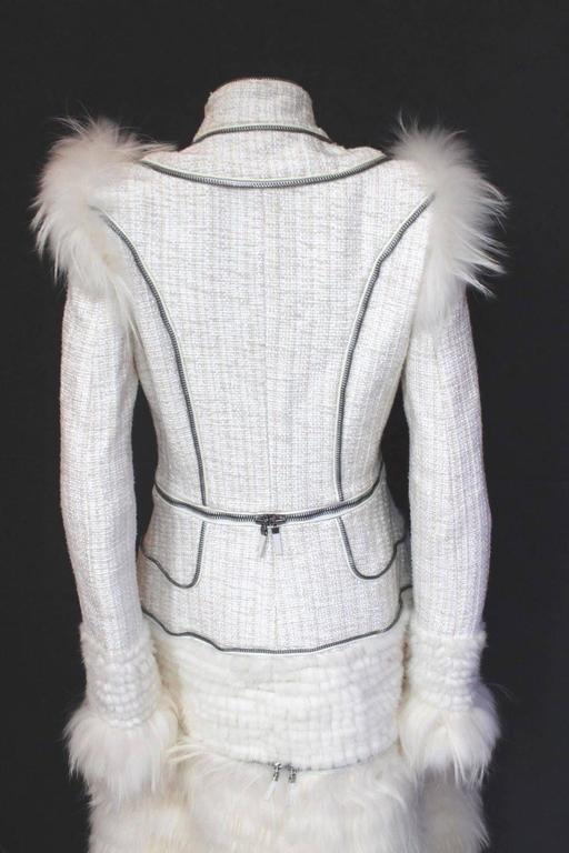 Alexander McQueen Fall 2011 Paris Collection White Mink Fur Coat 44 uk 12  7