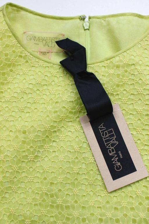 New Giambattista Valli Lime Lace Dress IT 40 UK 8  4